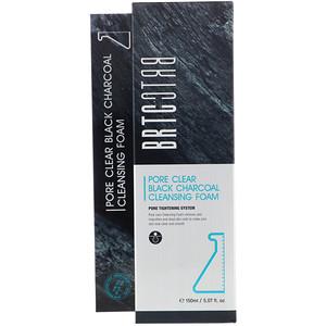 BRTC, Pore Clear Black Charcoal Cleansing Foam, 5.07 fl oz (150 ml) отзывы