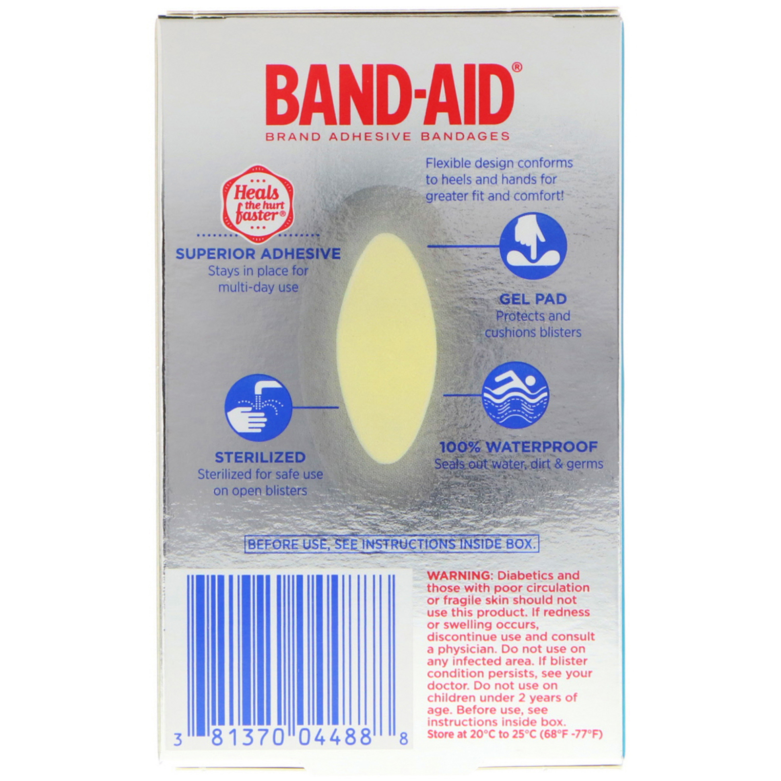 band aid advanced healing blister instructions