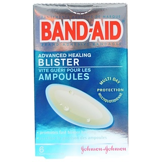 Band Aid, Adhesive Bandages, Advanced Healing Blister, 6 Cushions