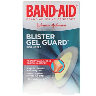 Band Aid, Adhesive Bandages, Blister Gel Guard For Heels, 6 Cushions