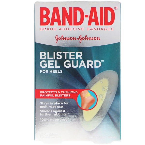 Band Aid, Adhesive Bandages, Blister Gel Guard For Heels, 6 Cushions (Discontinued Item)