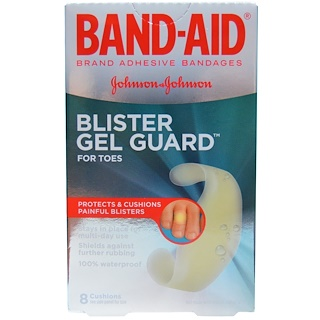 Band Aid, Adhesive Bandages, Blister Gel Guard for Toes, 8 Cushions