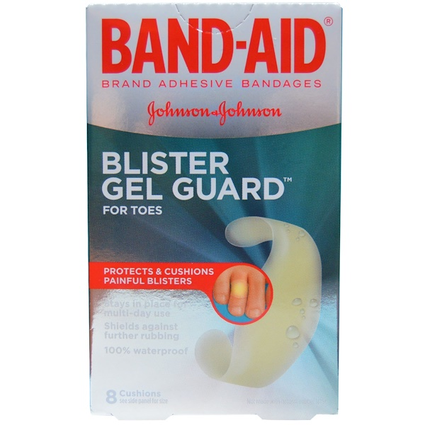 Band Aid, Adhesive Bandages, Blister Gel Guard for Toes, 8 Cushions (Discontinued Item)