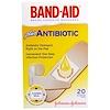 Band Aid, Adhesive Bandages, Plus Antibiotic, 20 Assorted Sizes