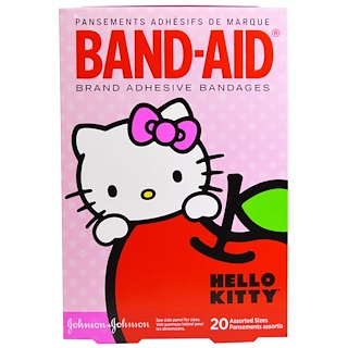 Band Aid, Adhesive Bandages, Hello Kitty, 20 Assorted Sizes