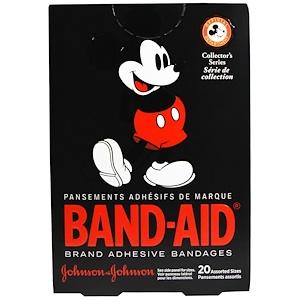 Бэнд Эйд, Adhesive Bandages, Disney Mickey Mouse, 20 Assorted Sizes отзывы покупателей