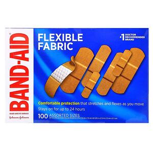 Бэнд Эйд, Adhesive Bandages, Flexible Fabric, 100 Assorted Sizes отзывы