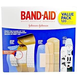 Бэнд Эйд, Adhesive Strips, Bandages, Value Pack, 5 Cartons, 120 Bandages отзывы покупателей