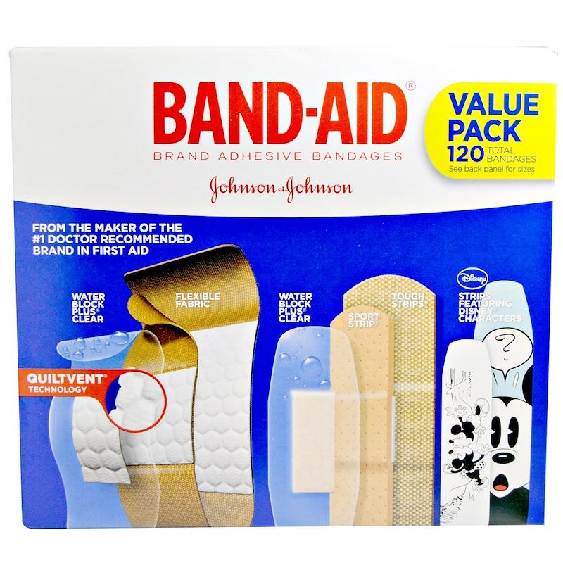 Band Aid, 貼布,創可貼,超值裝,5 盒,120 片
