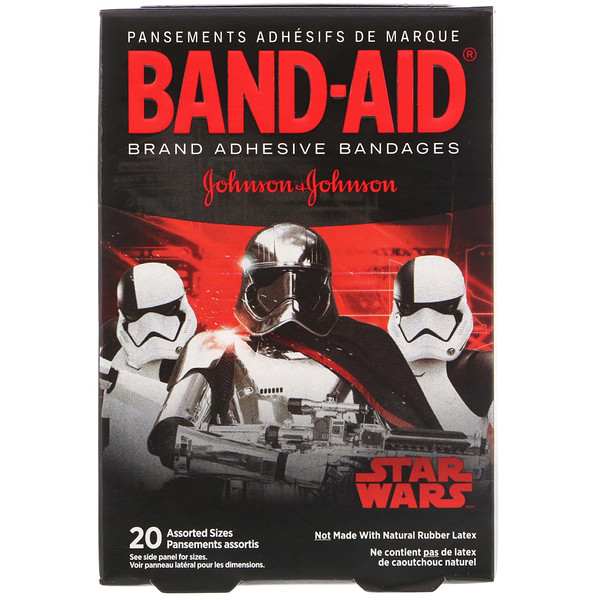 Band Aid, Adhesive Bandages, Star Wars, 20 Assorted Sizes