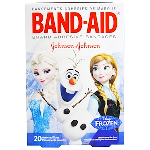 Бэнд Эйд, Adhesive Bandages, Disney Frozen, 20 Assorted Sizes отзывы