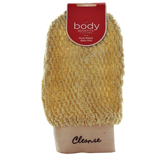 Body Benefits, By Body Image, Dual-Sided Bath Mitt, 1 Mitt
