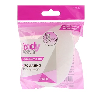Body Benefits, By Body Image, Exfoliating Facial Sponge, 1 Sponge