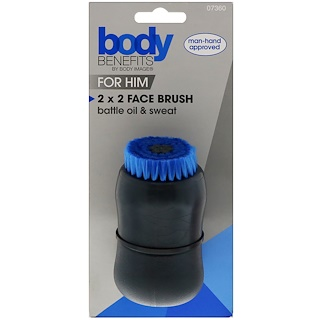 Body Benefits, By Body Image, For Him, 2x2 Face Brush, 1 Brush