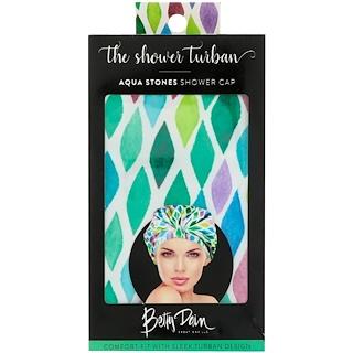 Betty Dain Creations, LLC, The Shower Turban, Aqua Stones Shower Cap, 1 Shower Cap