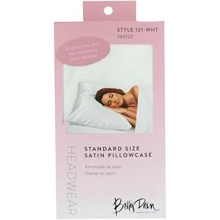 Betty Dain Creations, LLC, 頭飾,標準尺寸綢緞枕套,1 個