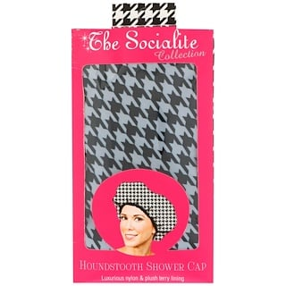 Betty Dain Creations, LLC, The Socialite Collection, Houndstooth Shower Cap, 1 Shower Cap