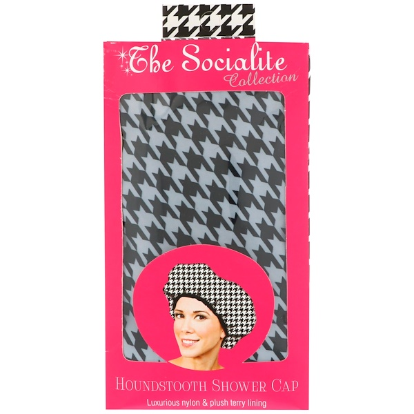 Betty Dain Creations, LLC, Коллекция Socialite, шапочка для душа Houndstooth, 1 шапочка (Discontinued Item)