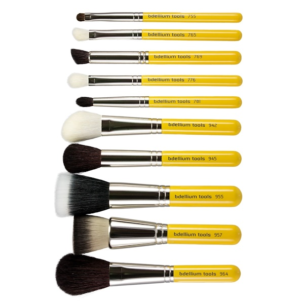 Bdellium Tools, Studio Line, Mineral Brush Set and Pouch, 11 Pieces (Discontinued Item)