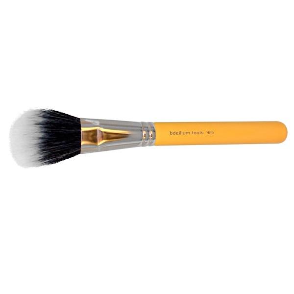 Bdellium Tools, Studio Line, Face 985, 1 Duet Fiber Powder Brush (Discontinued Item)