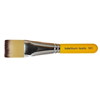 Bdellium Tools, Travel Line, Spa 365, Square Mask, 1 Brush