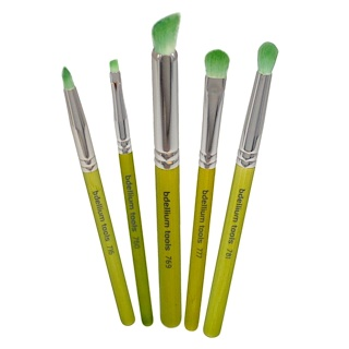 Bdellium Tools, Green Bambu Series, Smoky Eyes, 5 Piece Brush Set