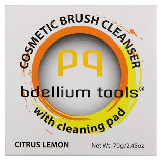 Bdellium Tools, Cosmetic Brush Cleanser with Cleaning Pad, Citrus Lemon, 2.45 oz (70 g)