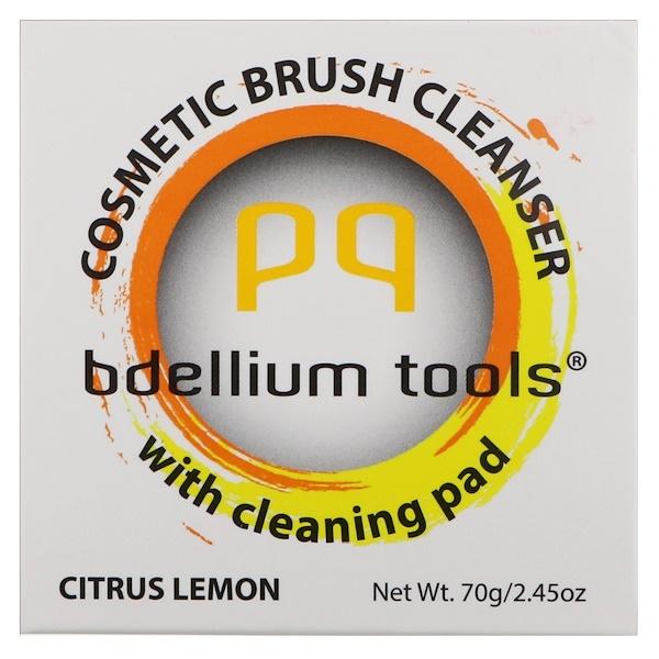 Bdellium Tools, Средство для мытья косметических кисточек с чистящей подушечкой, цитрус и лимон, 2,45 унц. (70 г) (Discontinued Item)