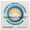 Bdellium Tools, Cosmetic Brush Cleanser with Cleaning Pad, Ocean Breeze, 2.45 oz (70 g) (Discontinued Item)