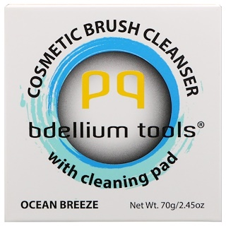Bdellium Tools, Cosmetic Brush Cleanser with Cleaning Pad, Ocean Breeze, 2.45 oz (70 g)