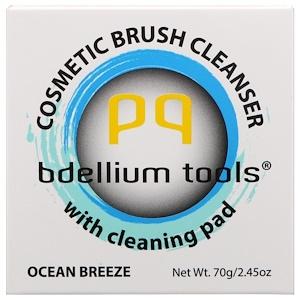 Bdellium Tools, Средство для мытья косметических кисточек с чистящей подушечкой, океанский бриз, 2,45 унц. (70 г) инструкция, применение, состав, противопоказания