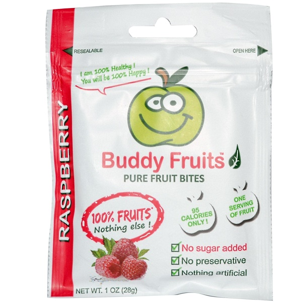 Buddy Fruits, Pure Fruit Bites, Raspberry, 18 Pouches, 1 oz (28 g) Each (Discontinued Item)