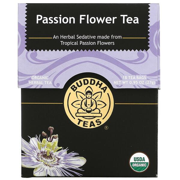 Organic Herbal Tea, Passion Flower, 18 Tea Bags, 0.95 oz (27 g)