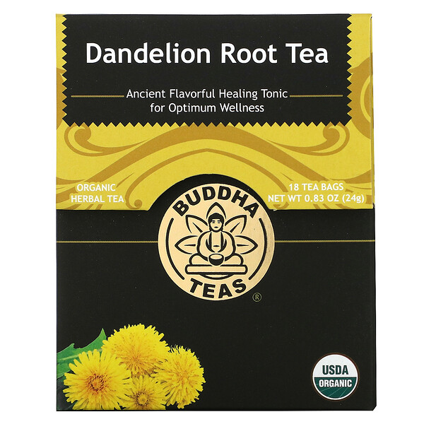 Organic Herbal Tea, Dandelion Root, 18 Tea Bags, 0.83 oz (24 g)