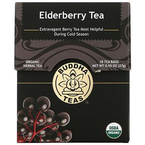 Buddha Teas, Organic Herbal Tea, Elderberry, 18 Tea Bags, 0.95 oz (27 g)