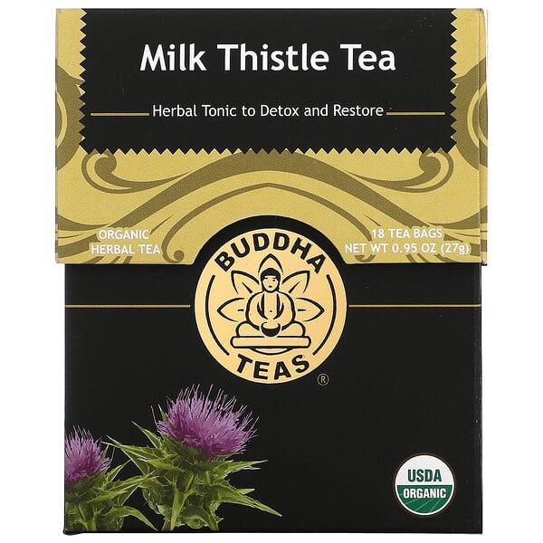 Organic Herbal Tea, Milk Thistle, 18 Tea Bags, 0.95 oz (27 g)