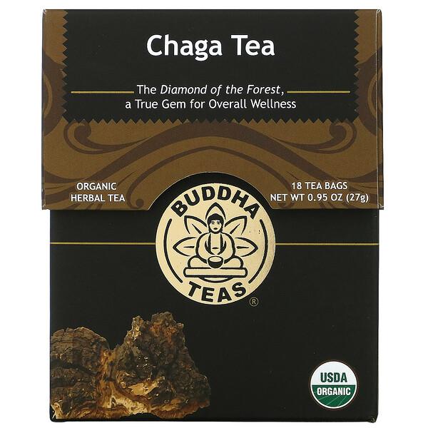 Organic Herbal Tea, Chaga Mushroom, 18 Tea Bags, 0.95 oz (27 g)