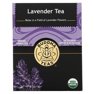 Buddha Teas, Organic Herbal Tea, Lavender, 18 Tea Bags, 0.83 oz (24 g)