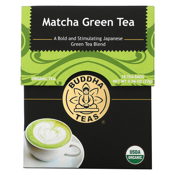 Organic Herbal Tea, Matcha Green, 18 Tea Bags, 0.95 oz (27 g)