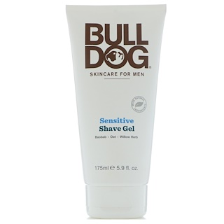 Bulldog Skincare For Men, 敏感肌用シェーブジェル、5.9 fl oz (175 ml)