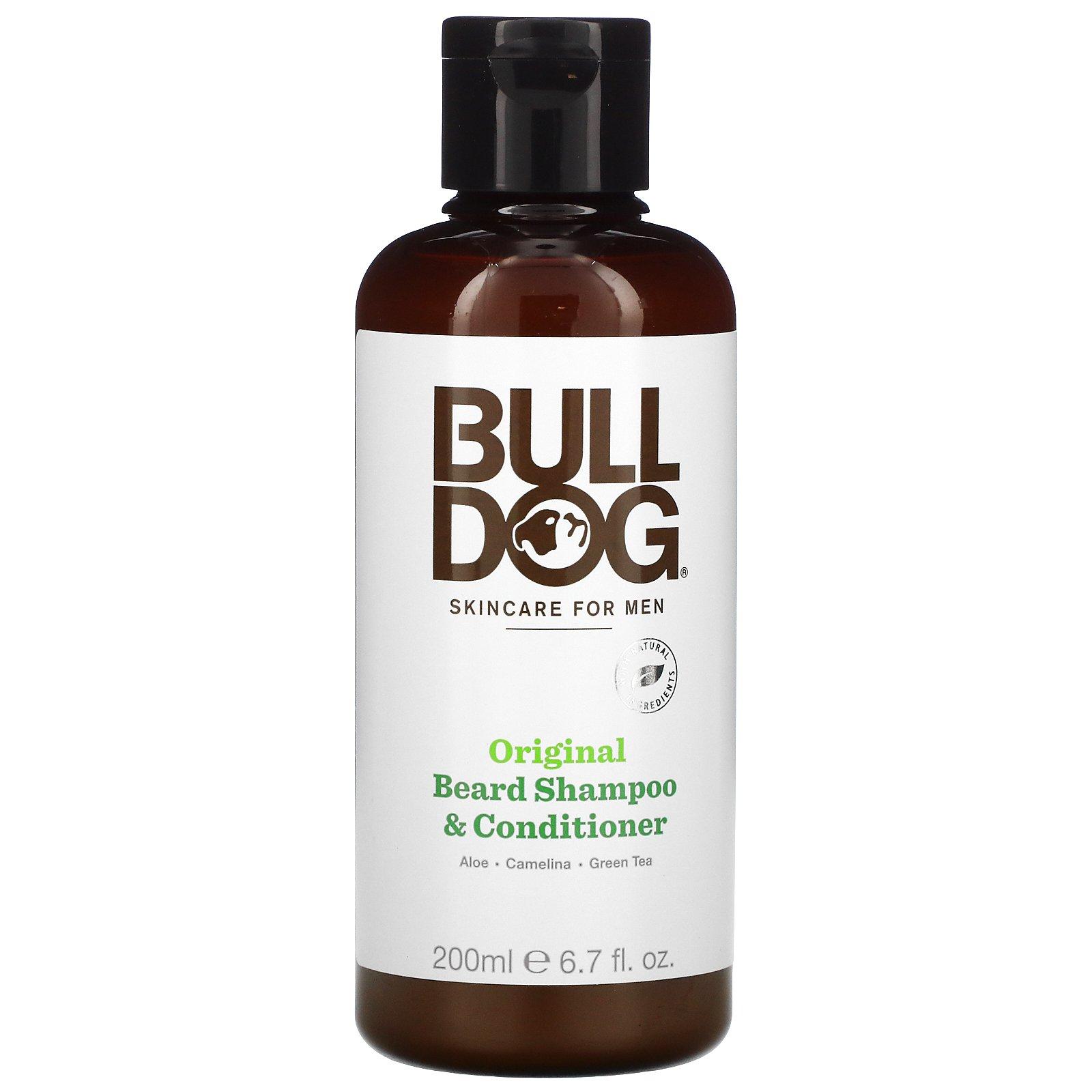 Bulldog Skincare For Men, оригинальный шампунь и кондиционер для бороды, для мужчин, 200мл (6,7жидк.унций)