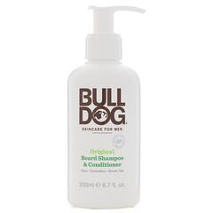 Bulldog Skincare For Men, Оригинальный шампунь и кондиционер для бороды, 200 мл