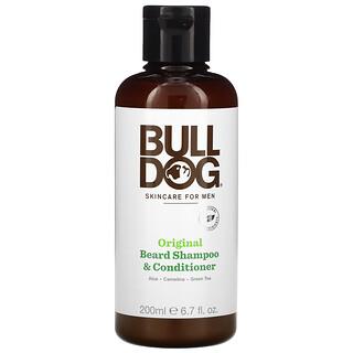 Bulldog Skincare For Men, 原装男性胡须香波和护须素,6.7 盎司(200 毫升)