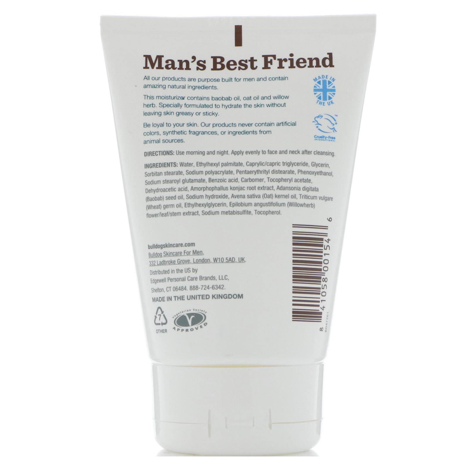 Age Defense Facial Moisturizer - 3.3 fl. oz. by Bulldog Natural Skincare (pack of 6) ChapStick Lip Moisturizer SPF 12, 0.15 oz