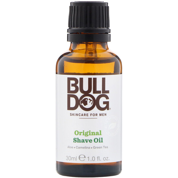 Bulldog Skincare For Men, Original Shave Oil, 1 fl oz (30 ml) (Discontinued Item)