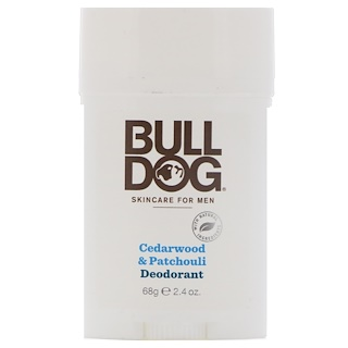 Bulldog Skincare For Men, Cedarwood & Patchouli Deodorant, 2.4 oz (68 g)