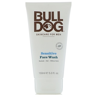 Bulldog Skincare For Men, Limpiador facial para piel sensible, 5 fl. Oz (150 ml)