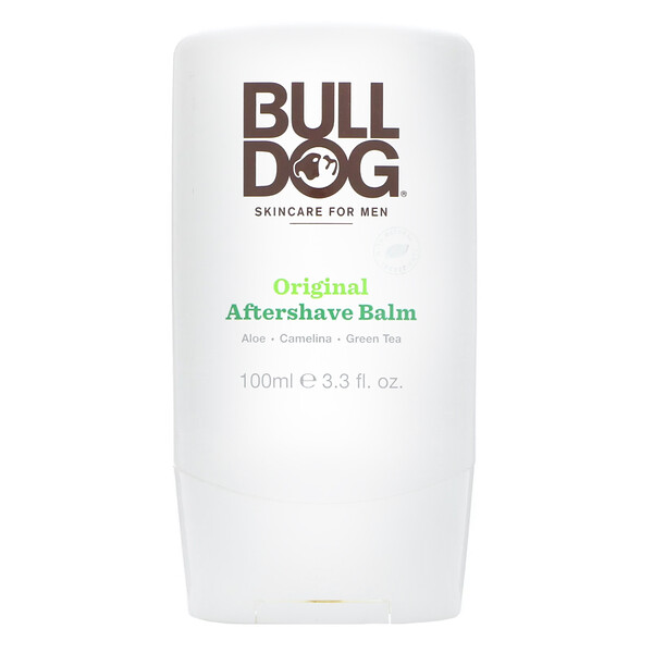 Bulldog Skincare For Men, Bálsamo para después de afeitarse original, 3.3 fl. Oz (100 ml) (Discontinued Item)