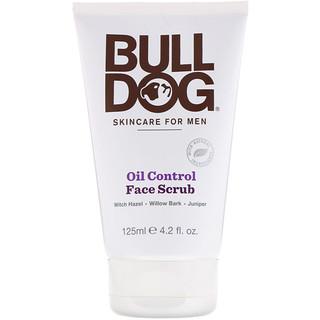 Bulldog Skincare For Men, Oil Control Face Scrub, 4.2 fl oz (125 ml)