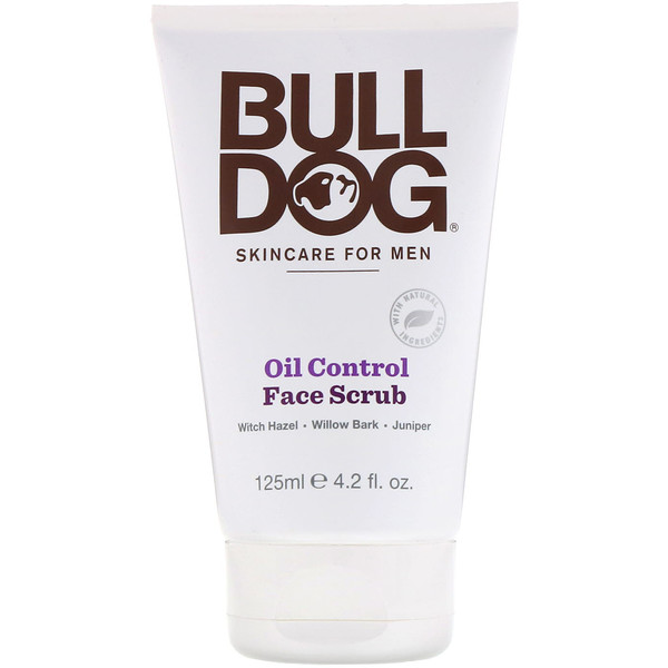 Bulldog Skincare For Men, Oil Control Face Scrub, 4.2 fl oz (125 ml)
